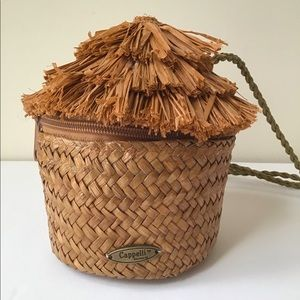 Cappella vintage  straw little hut bag